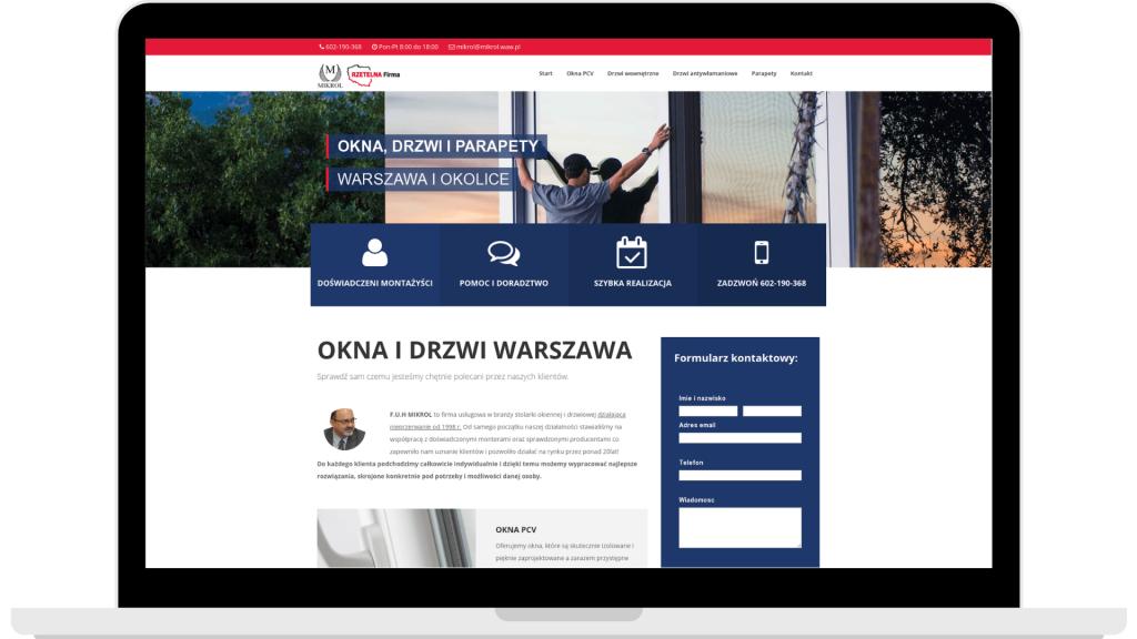 Projekt firmowej strony